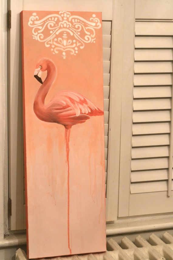 Flamingo art! LOVE this! I for sure need in my life
