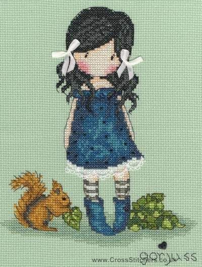 Gorjuss - You Brought Me Love - Cross Stitch Kit from Bothy Threads