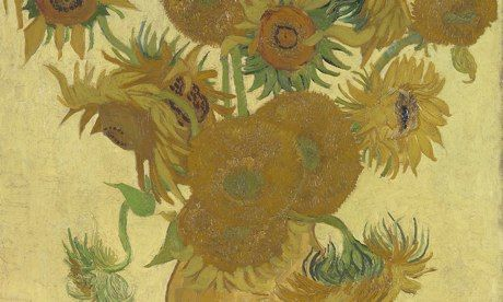 Sunflowers by Vincent Van Gogh, 1888. London National Gallery, January 25- April 27, 2014