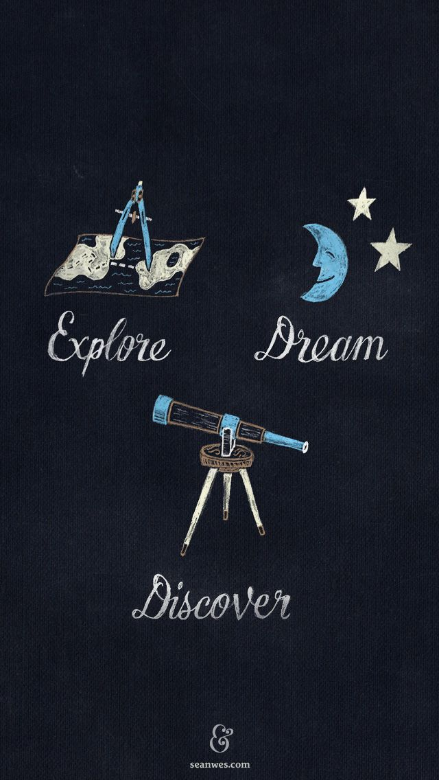 [iPhone 5 Wallpaper] Explore. Dream. Discover.  / absolutely love this ode to Mark Twain / by Sean Mccabe