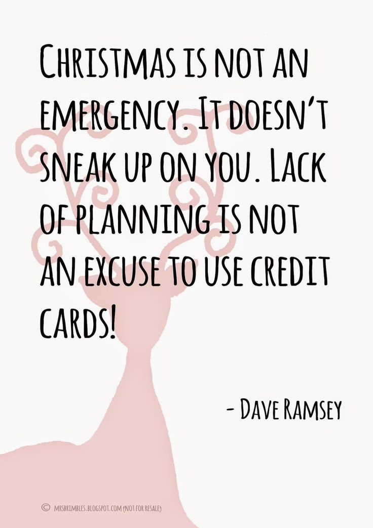 Dave Ramsey Christmas planning quote - free downloadable printable insert for A5 & Personal Filofax http://mrsbrimbles.blogspot.co.uk/2014/10/planning-for-christmas-budgets-money.html