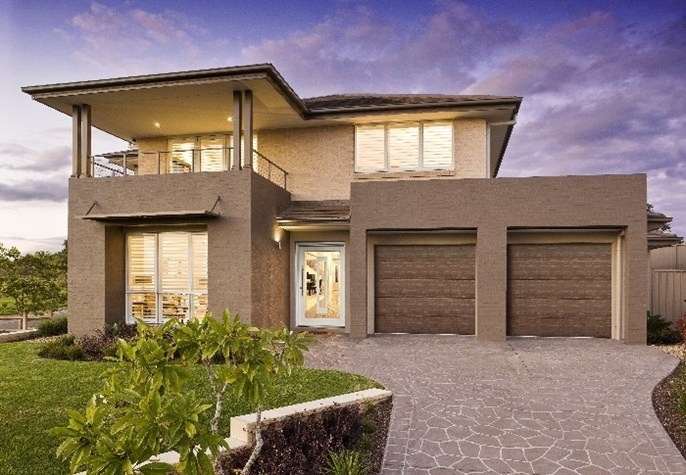 Masterton Display Homes: Oran Park, NSW - Villina. Visit www.localbuilders.com.au/display_homes_nsw.htm for all display homes in New South Wales