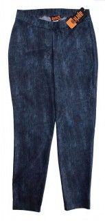 Aprico Damen Leggings Blau Schlangenmuster für den Winter