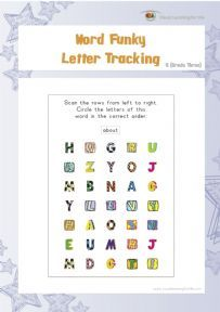 Word Funky Letter Tracking 5 - Individual File Download
