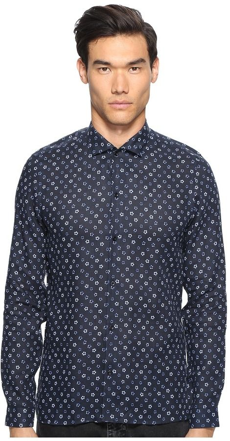 The Kooples Hippie Flowers Button Up Men's Clothing
