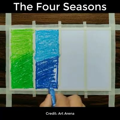 The Four Seasons in One Painting 😍
