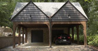 17 best images about detached garage carport on pinterest for Building a detached garage on a slope
