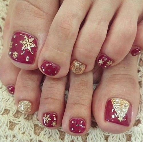 30 Best and Easy Christmas Toe Nail Designs – Christmas Celebrations - 16 Best CHRISTMAS TOES Images On Pinterest Feet Nails, Christmas