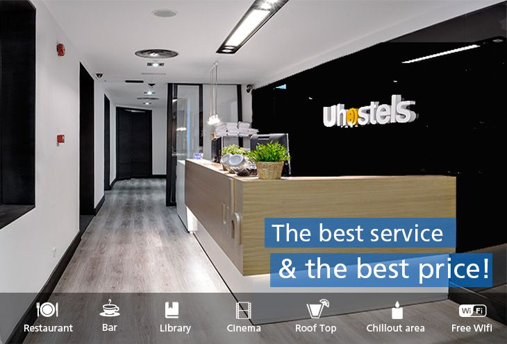 U Hostels Madrid Spain.  May be a bit far from city center....1.5 miles....but very nice.  Great lockers.