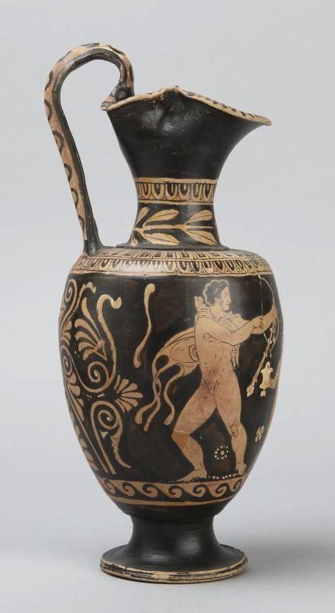 Red-figure oinochoe: Herakles liberating Prometheus (y1989-30 ) | Princeton University Art Museum.