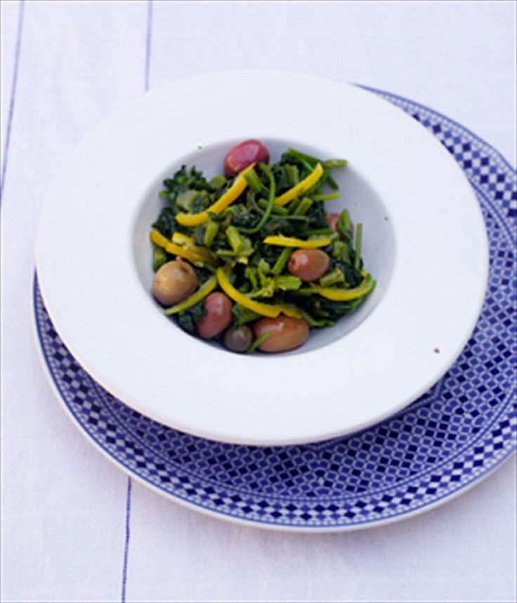 Mallow, preserved lemon & olive salad recipe by Andy Harris | Cooked