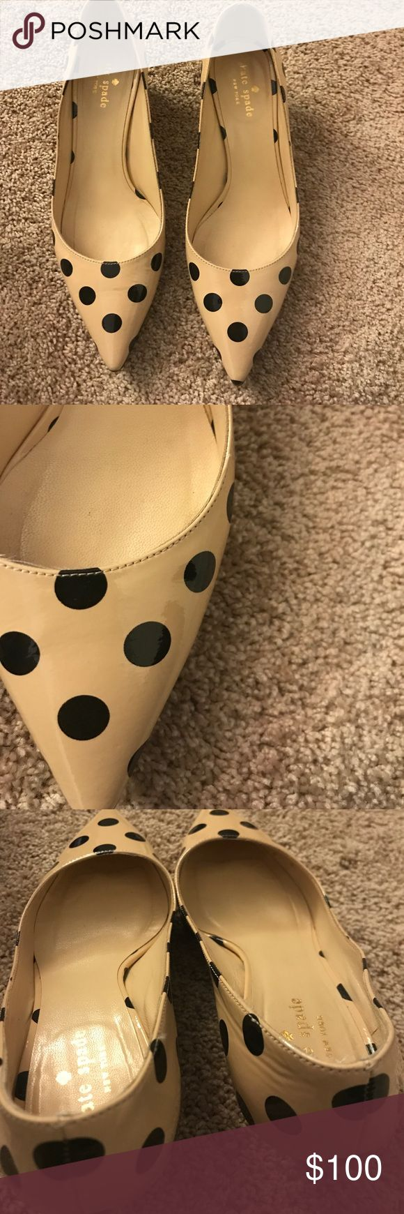 Ultra Chic Kate Spade ♠️ Polka Dot Kitten 👠 Heels Adorable and chic! Willing to negotiate price! kate spade Shoes Heels