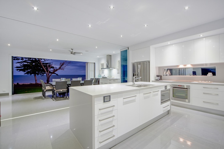 White Kitchen! Just add colour to achieve an interesting and fun space...
