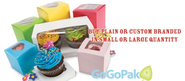 Colorful Cupcake Boxes with Windows