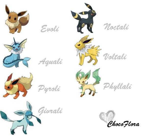 Ainsi que noctali chez voltali j 39 adore son c t - Pokemon famille d evoli ...