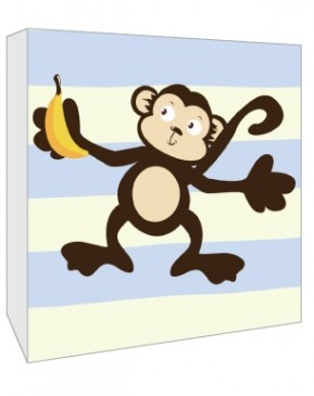 Art Canvas Blue Monkey