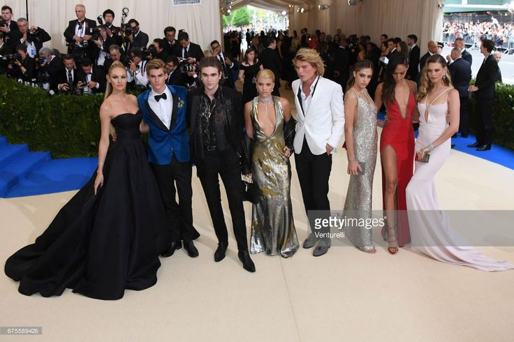Candice Swanepoel, Presley Walker Gerber, Gabriel-Kane Day-Lewis, Sofia Richie, Jordan Kale Barrett, Candice Swanepoel, Joan Smalls and Behati Prinsloo attends'Rei Kawakubo/Comme des Garcons: Art Of The In-Between' Costume Institute Gala - Arrivals at Metropolitan Museum of Art on May 1, 2017 in New York City.