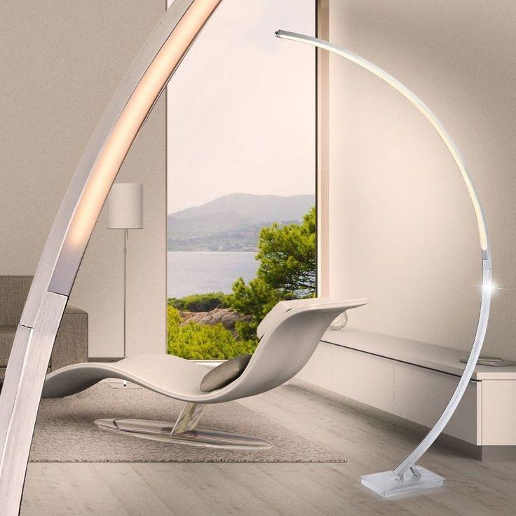 Fabulous Luxus Steh Beleuchtung Dimmbar LED Watt Bogen Leuchte Acryl Lumen B ro Stehleuchten