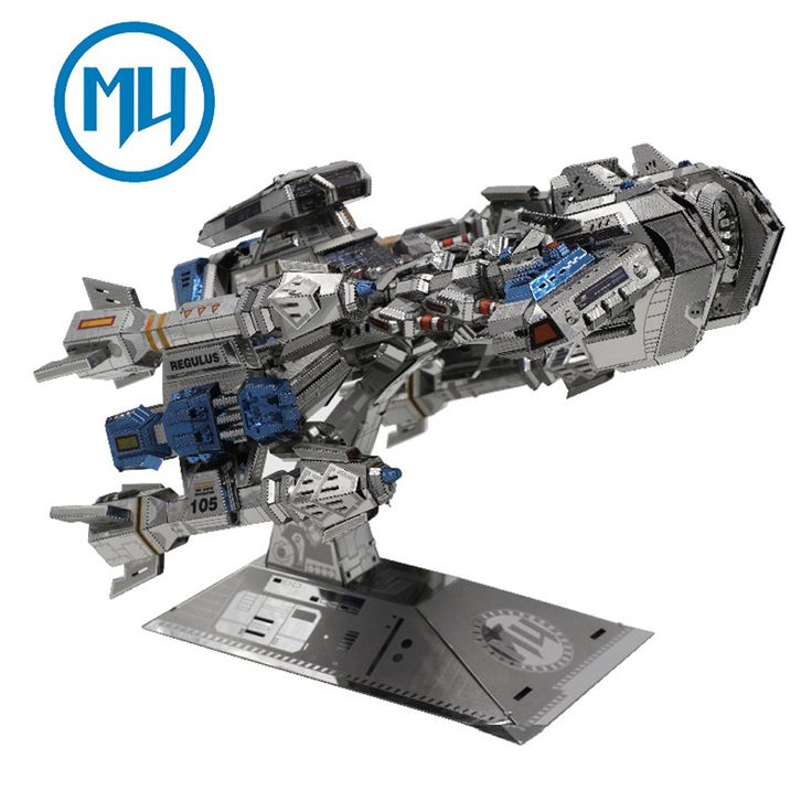 ==> [Free Shipping] Buy Best 2016 MU 3D Metal Puzzle Star craft Terran Colorful Battle Cruise YM-M015 DIY 3D Metal Puzzle Kits Laser Cut Models Jigsaw Toys Online with LOWEST Price | 32788815075