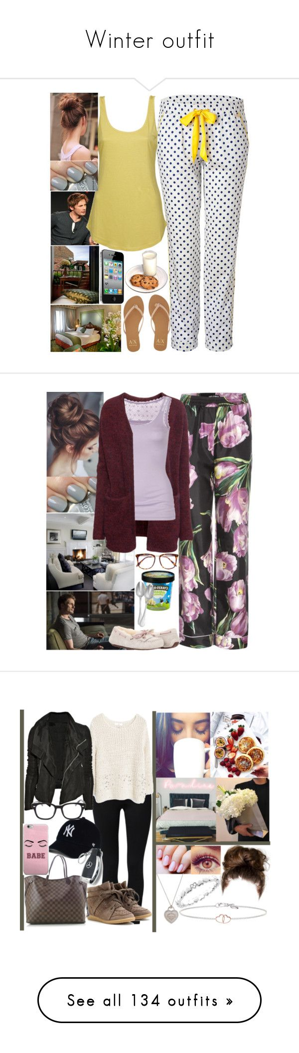 """""""Winter outfit"""" by cz-gldrn ❤ liked on Polyvore featuring Juicy Couture, Armani Exchange, Agent Ninetynine, Dolce&Gabbana, H&M, Fat Face, UGG Australia, Victoria Beckham, Couzon and NIKE"""