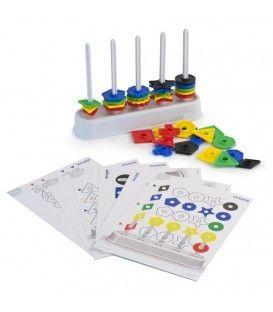 Abaco multiforme 100pz. Il riconoscimento dei colori, delle forme e dei nomi, la capacità di contare e di raggruppare sono solo alcune possibilità d'insegnamento che questo gioco consente.  Dai 3-6 anni