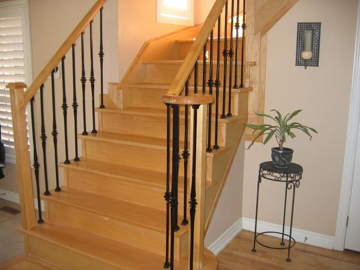27 best images about stairs in residential homes on - How to install interior stair railings ...