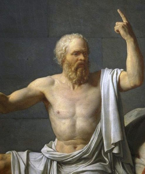 """Socrate :""""une vie sans EXAMEN Ne vaut pas la peine d'être vécue.""""""""la vraie sagesse est de savoir que vous ne savez rien"""""""