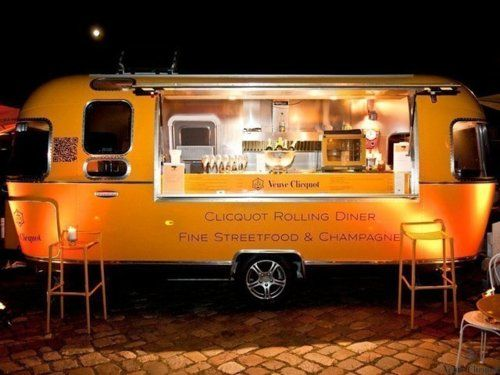 Veuve Clicquot Air Stream. My two favorites things together:  orange AND champagne. Quel delire!