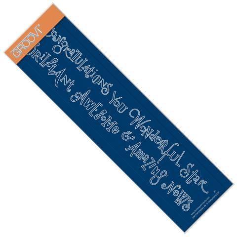 Congratulations & Brilliant Word Chains <br/>Groovi Border Plate <br/>(Set GRO-WO-40576-XX)