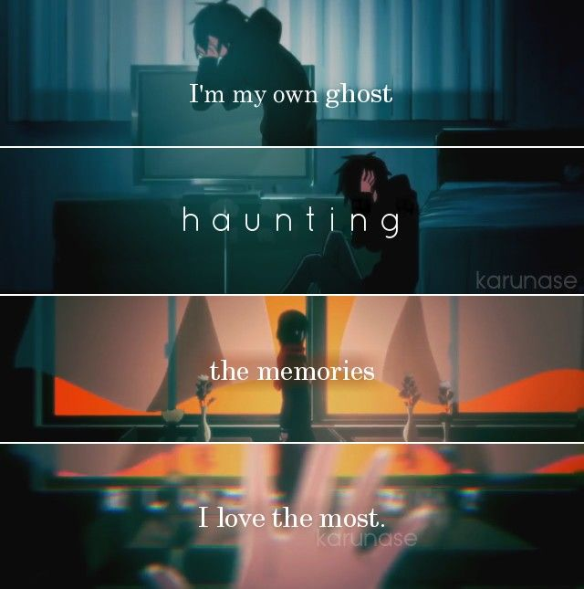 """""""I'm my own ghost haunting the memories I love the most.."""" -Anime : Kagerou Project - Mekakucity Actors -Edited by Karunase -Tumblr: karunase.tumblr.com"""