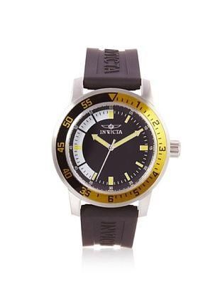 Invicta Men's 12846 Specialty Black/Yellow Silicone Watch