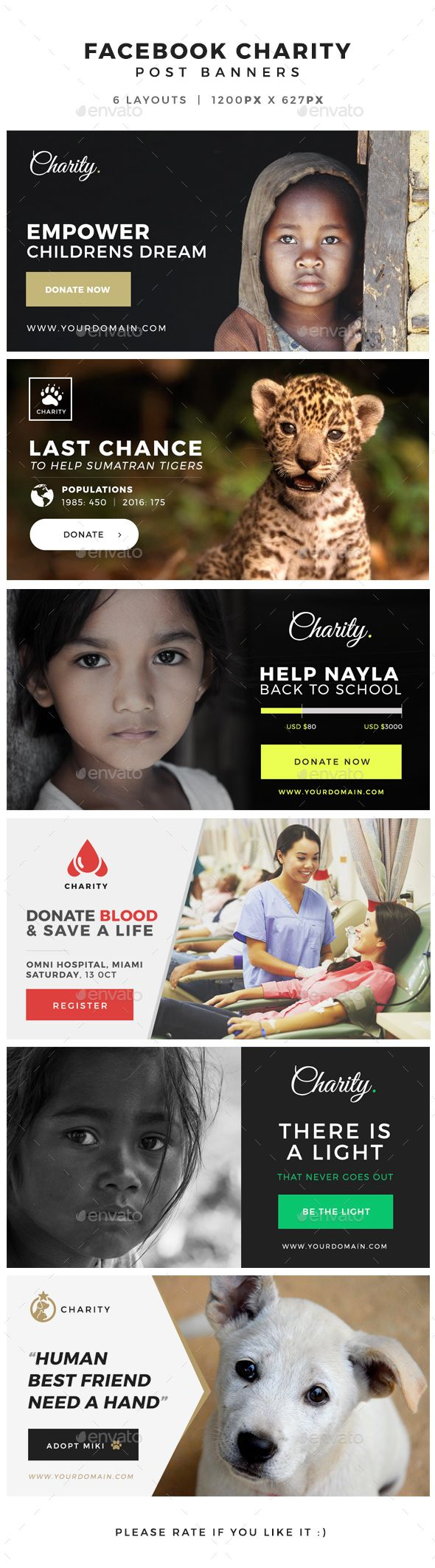 Facebook Charity Post Banners