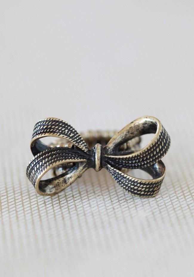 Ring Bow Il Gioiello Personalizzabile Con La Tua Nailart: Vintage Bow Ring