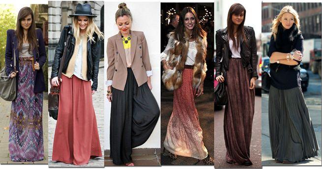Long maxi skirts