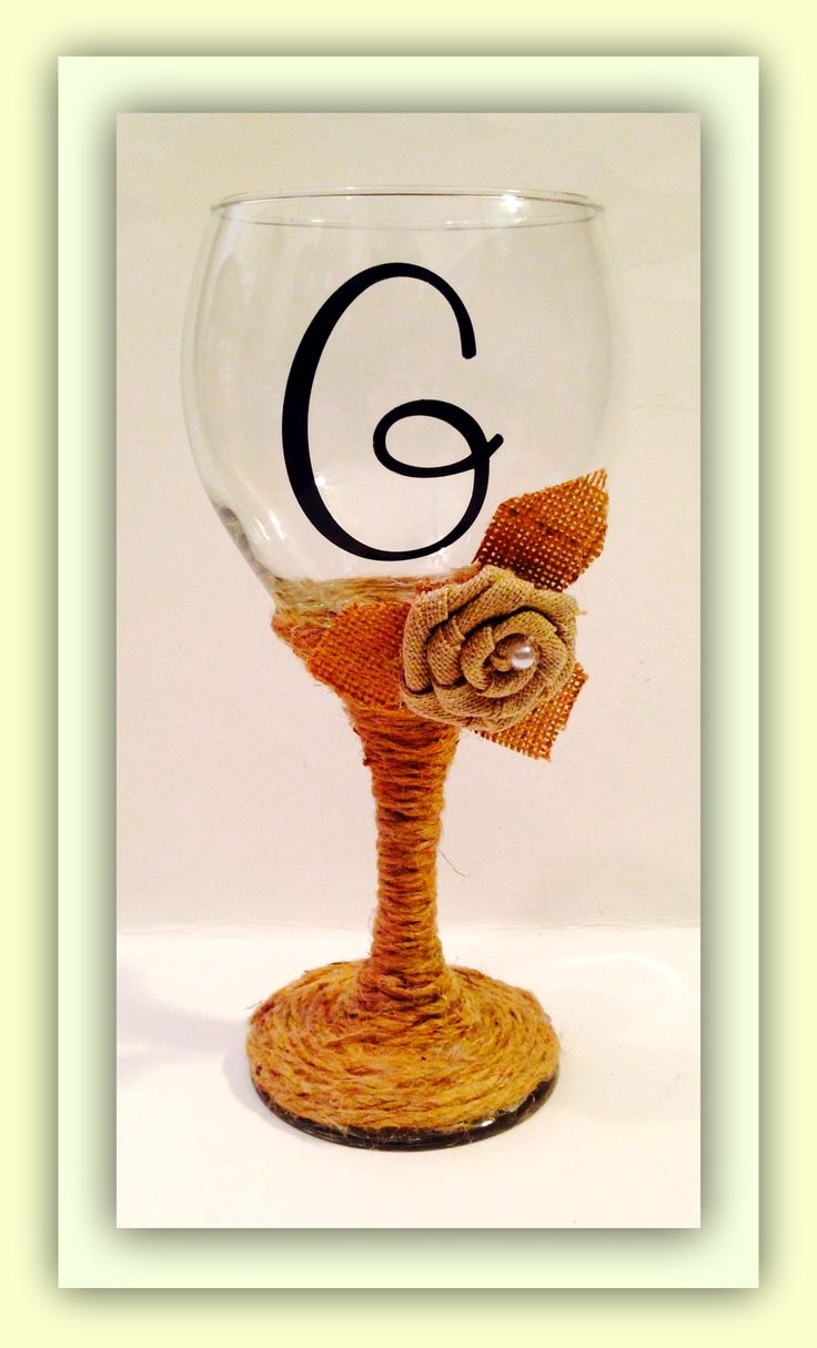 wedding wine glasses with burlap copyright protected