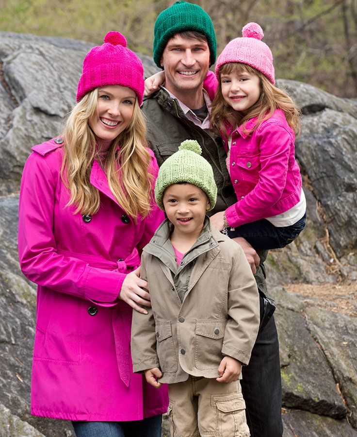Knit hats for the whole clan! This pattern includes sizing for children, women and men. It's a classic you'll want to keep in your favorites.