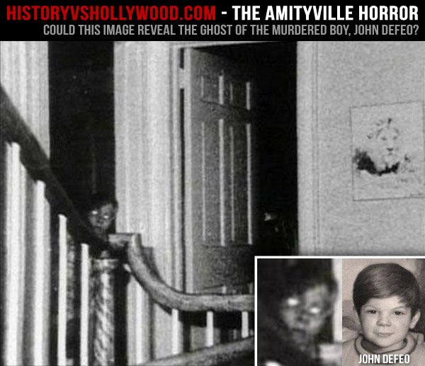 The Amityville Horror (2005): History vs. Hollywood - Does this photo show an Amityville ghost? Learn more at http://www.historyvshollywood.com/reelfaces/amityville-ghost-boy.php