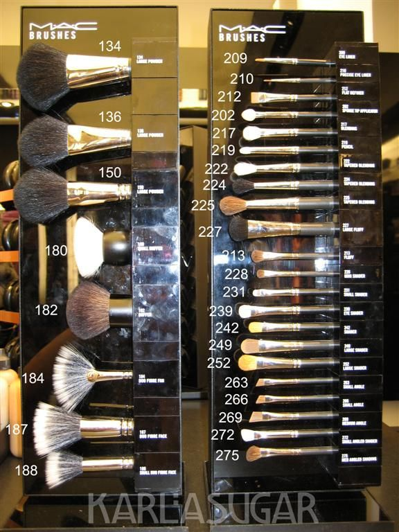 MAC brushes all in one location. Great Blog!