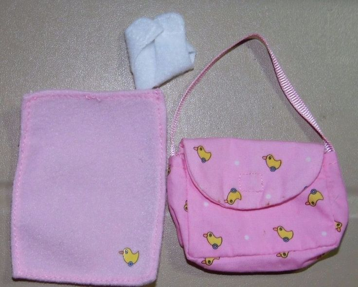 ~ Accessories ~Zapf Creation Baby Born Mini World Diaper Bag Diaper Blanket Pink