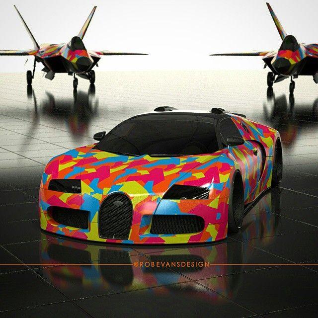 Camo D Bug V 2 Bugatti Camo Robevansdesign Block
