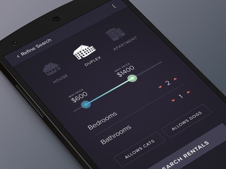 Android Dark Booking UI