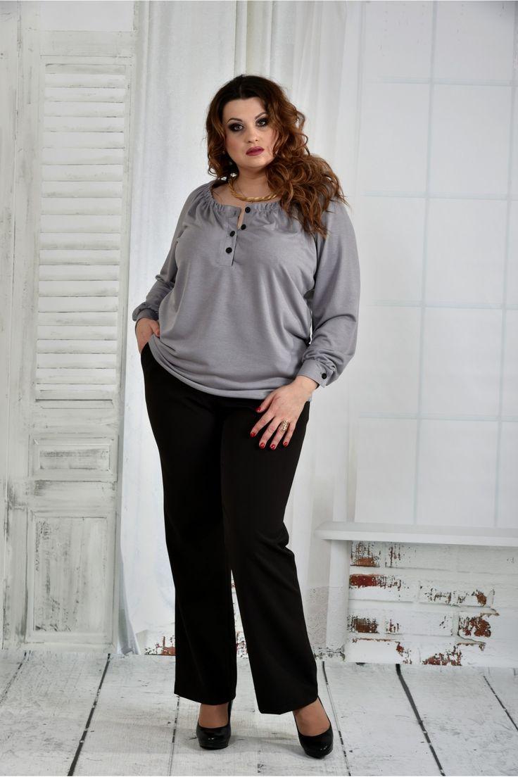 Серая блузка 0411-1
