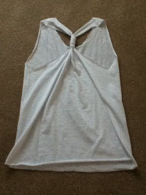easy DIY t-shirt into a tank top