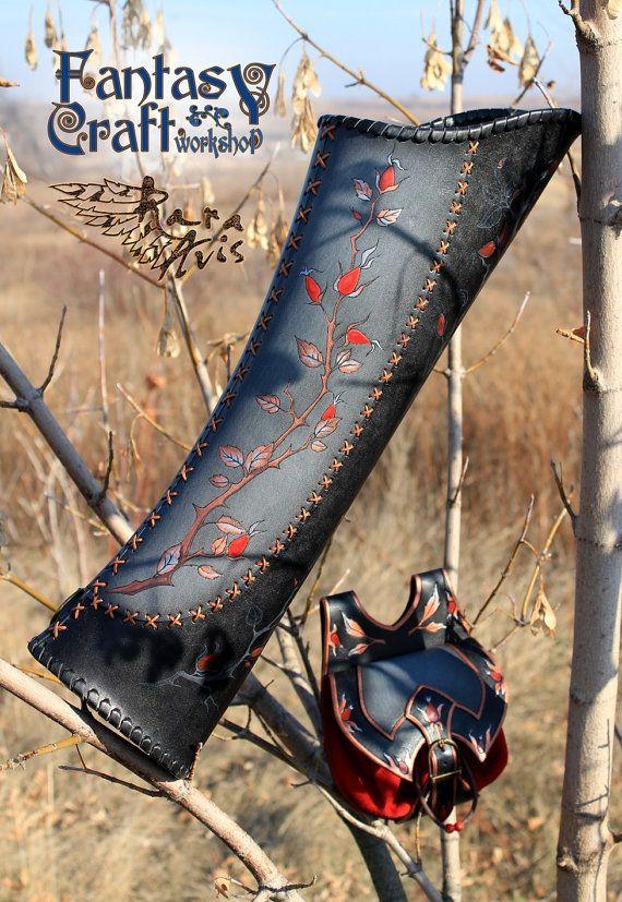 Leather quiver Rosehip / LARP SCA Medieval от FantasyLeatherCraft