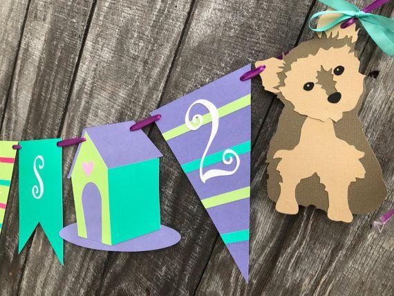 Perrito y gatito cumpleaños partido Banner banner de