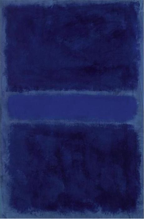 Rothko #blue                                                                                                                                                                                 Plus