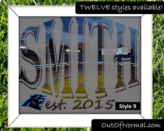 Carolina Panthers Cam Newton Custom Last or first by OutOfNormal