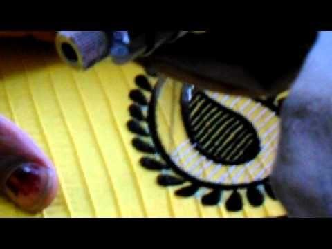 SILAI MACHINE SE BHARI HUI KADAI,FULL EMBROIDERY BY SWEING MACHIN,EMBROIDERY WORK,सिलाई मशीन से कढ़ाई - YouTube