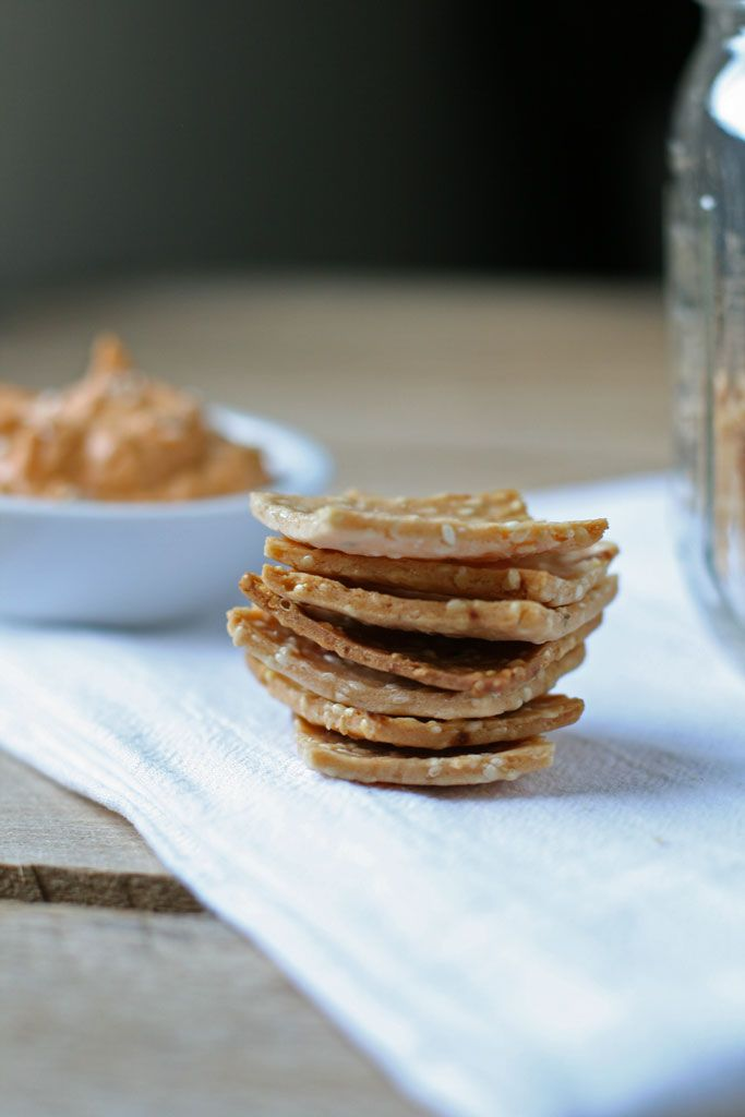 Delightfully crunchy and thin, these gluten-free garlic crispy rice crackers take less than 30 minutes to make from start to finish!