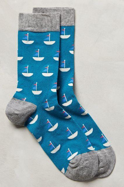 Smooth Sailing Socks - anthropologie.com